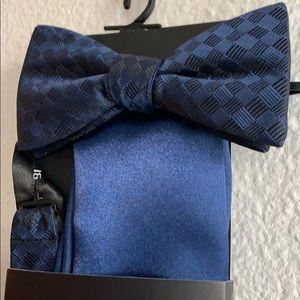 J. Ferrar Pre-Tied Bow Tie and Pocket Square
